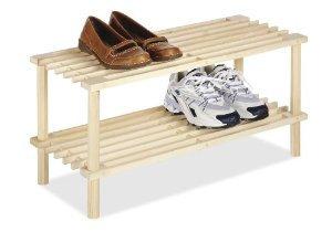 Wood 2 Tier Shoe Shelves