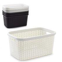 Rattan Laundry Basket 35L 53 x 36