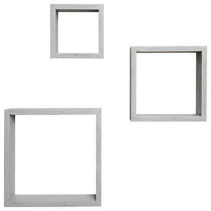 3 Pc Floating Wall Cube Grey