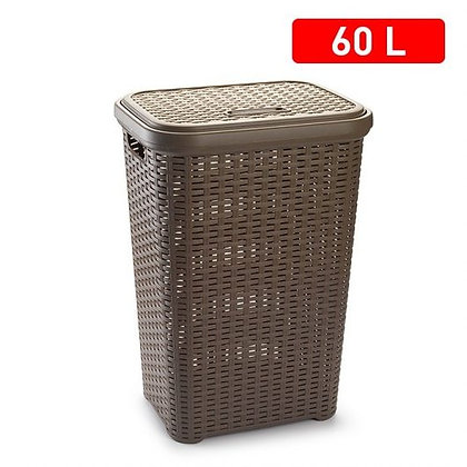 Rattan Laundry hamper TAUPE