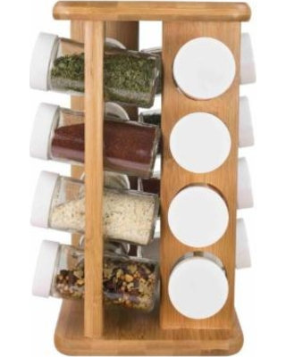 16 Pc Bamboo Spice Rack