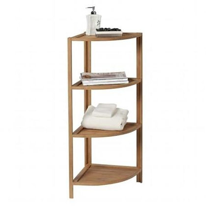 4 Shelf Corner Tower Bamboo