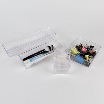 Clear Plastic Drawer Organiser