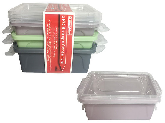 Storage Containers 3PC