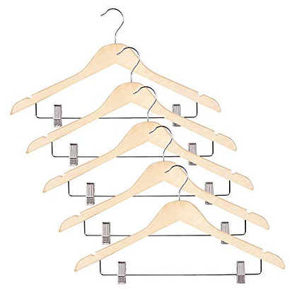 Imperial Suit Hangers with Clips s/5