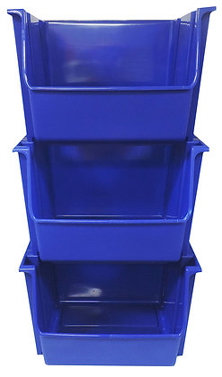 3 pc. Blue Recycle Stacking Bins