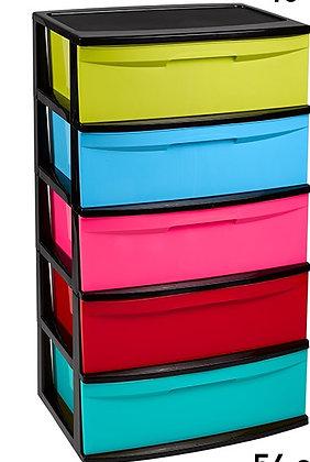 Storage unit Nilo with 5 drawers