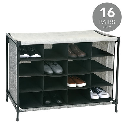 16 Compartment Shoe Cubby Organiser