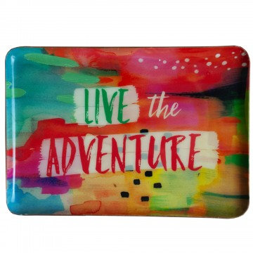 Live The Adventure Catchall Plate