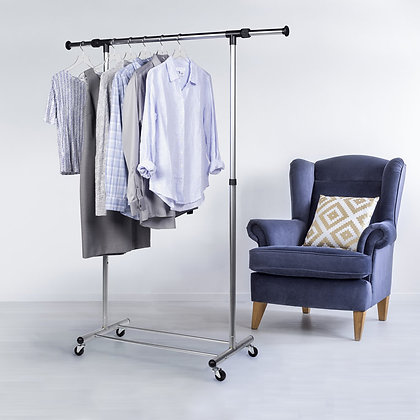 Frosty Chrome Garment Rack