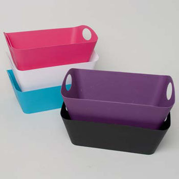 Rect Storage Basket With Handle