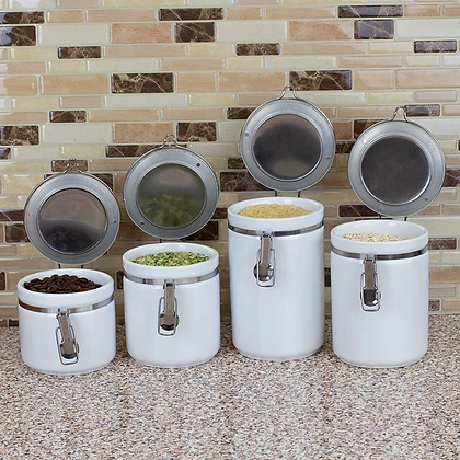 4 Pc Canister Sets with Tops