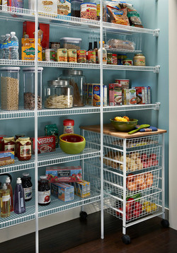 Ventilated Shelving in the Pantry
