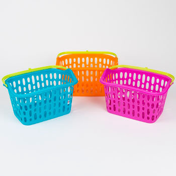 Basket with Plastic Handle and Hook