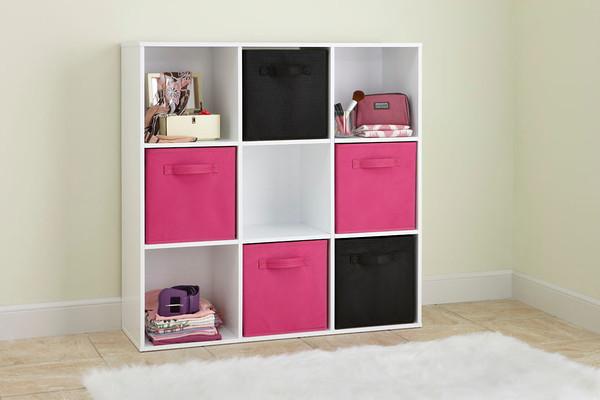 White 9 Cube Organiser