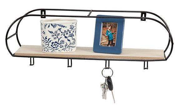 Oblong Organiser with Key Hooks