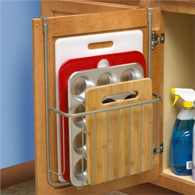 over cabinet cutting board holder