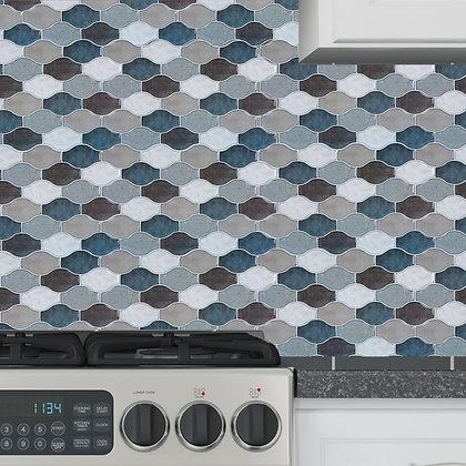 4 Pk Hour Glass Peel and Stick Grey Wall Tile