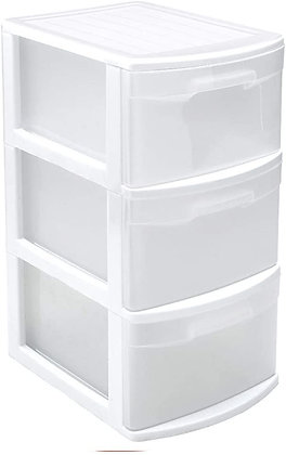 Storage Unit With 3 Drawers Tamesis WHITE