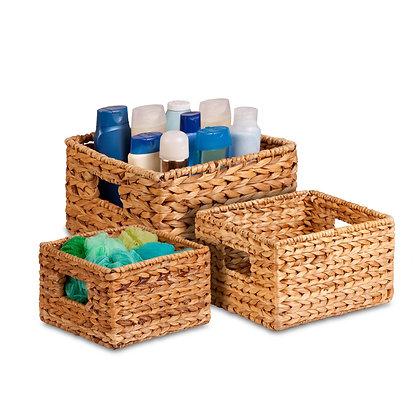 3 Pk Nested Natural Basket
