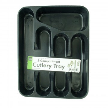 5 Section Plastic Cutlery Tray
