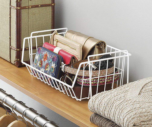 Medium Wire Grid Stacking Basket