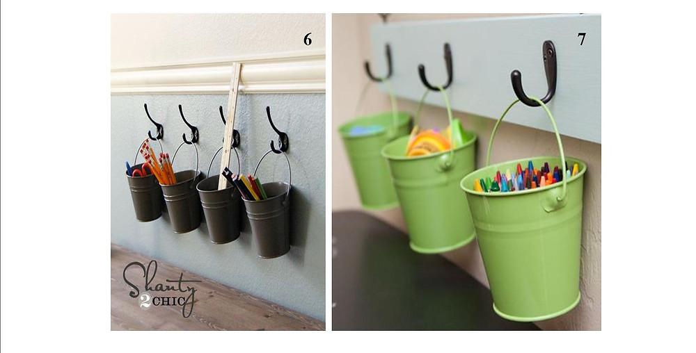 hanging pails