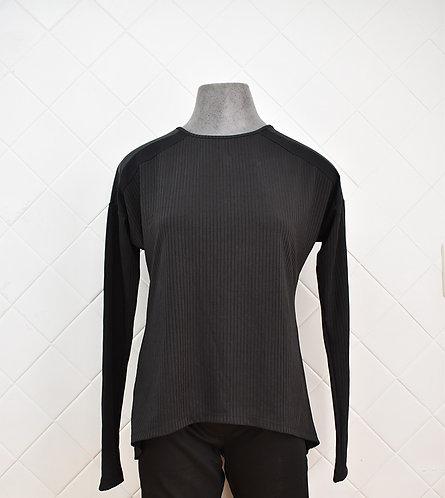 Camisa Feminina Manga Longa - Preto