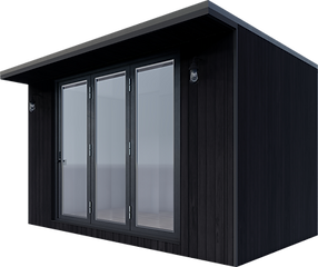 Black timber pod