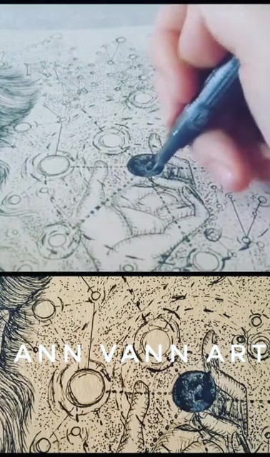 Drawing Timelapse Video Galileo with Cos