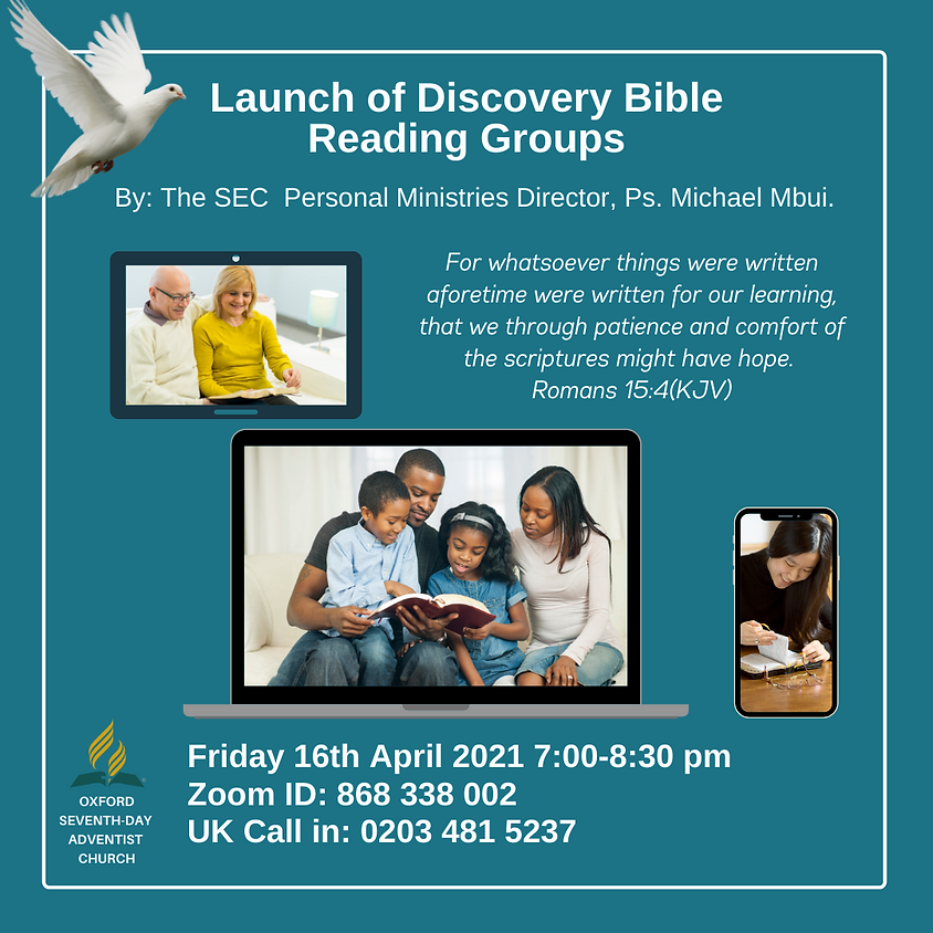 Launch of Discovery Bible Reading Groups