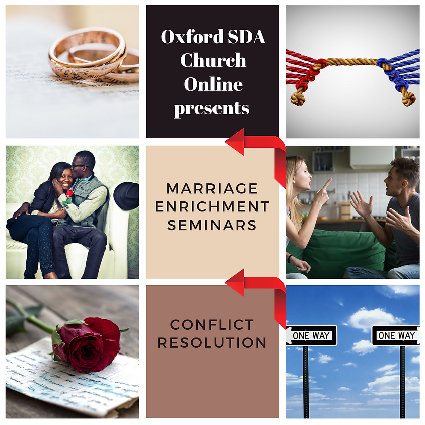 Marriage enrichment seminars - Continues Sept 26th 3pm  Live online