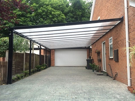 UK Security Shutters Carports, cantilever carports Simplicity 35 large car port