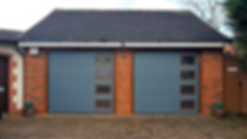 UK Security Shutters Double Sectional Garage Doors Staffordshire Stoke On Trent Garage Door remote b