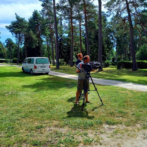 NDR Kamerateam auf unserem Campingplatzgelände
