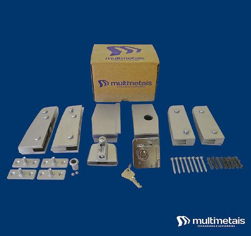 MM KIT 08B Porta dupla pivotante com fechadura MM 3210