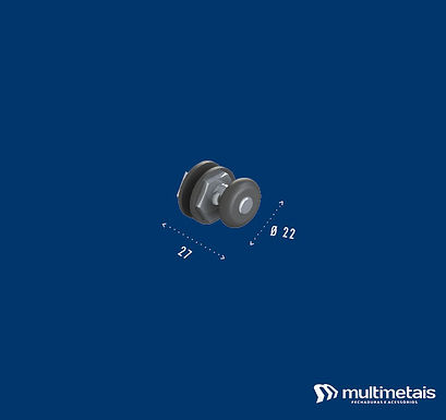 MM 1125E-6 Roldana excêntrica para vidro de 6mm