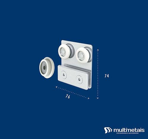MM 1122D Carrinho duplo para porta de correr – roldana semi-convexa