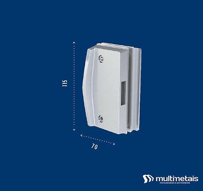 MM 3534A Contra fechadura para porta de correr com puxador inteiriço