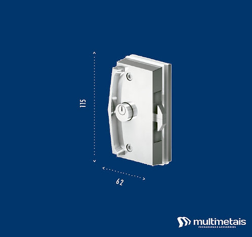 MM 3530A Fechadura para porta de correr com puxador inteiriço