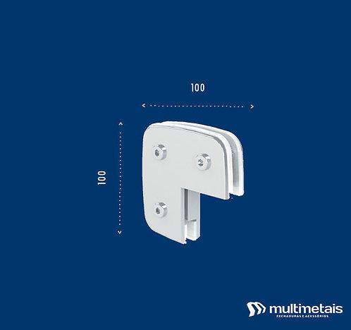 """MM 1310 Suporte para união de 2 ou 3 vidros em """"L"""""""