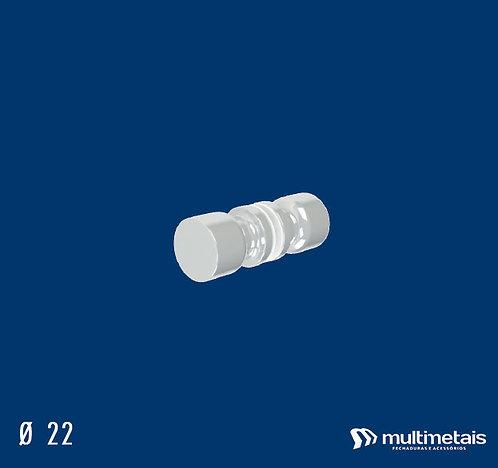 MM 1629B Puxador 22mm Ø