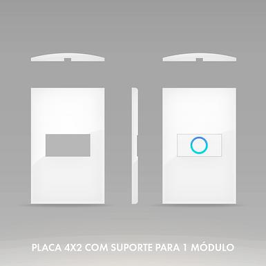 Placa 4x2 com Suporte para 1 Módulo