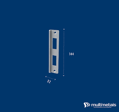MM 1506 Espelho para fechadura com maçaneta 1520MF e 1520ML