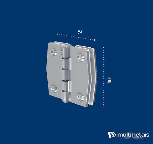 MM 3143 Dobradiça vidro / vidro