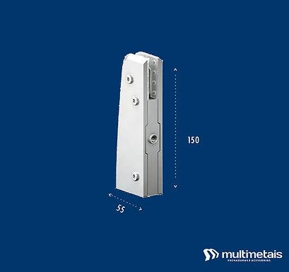 MM 1103S Dobradiça inferior com regulagem para pivô invertido