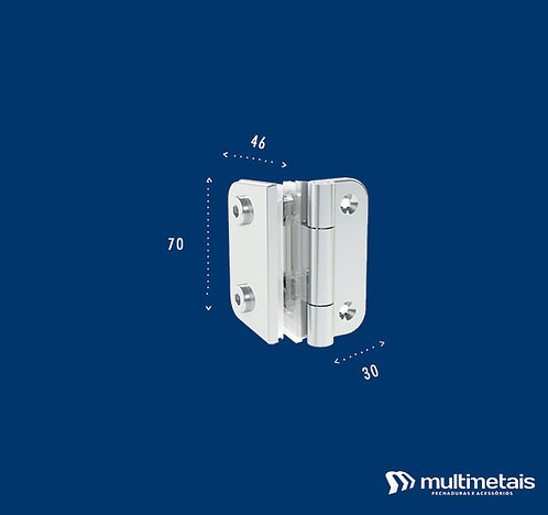MM 1132 Dobradiça maxin-ar vidro – alvenaria 40mm entre furos
