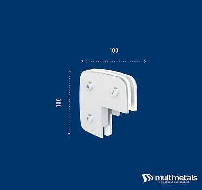 """MM 1315 Suporte para união de 2 ou 3 vidros em """"L"""" com batedor"""