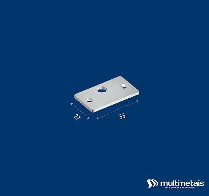 MM 1801B Chapa para trinco com furo deslocado