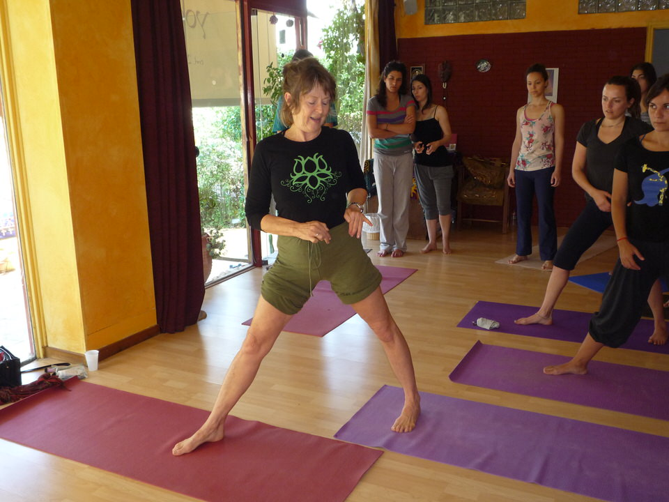Diane Long in Athens, yoga